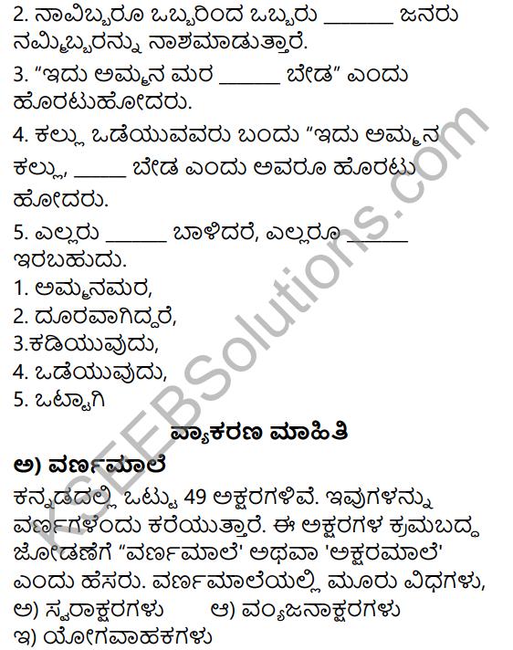 Siri Kannada Text Book Class 5 Solutions Gadya Chapter 1 Ottige Baluva Ananda 4
