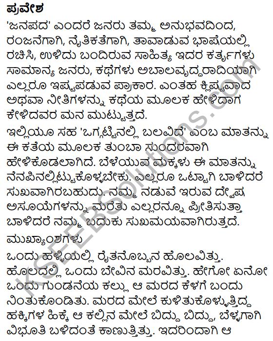 Ottige Baluva Ananda Summary in Kannada 9