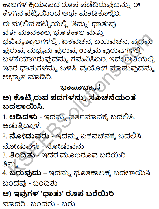 Siri Kannada Text Book Class 5 Solutions Padya Chapter 9 Bhuvaneswari 5