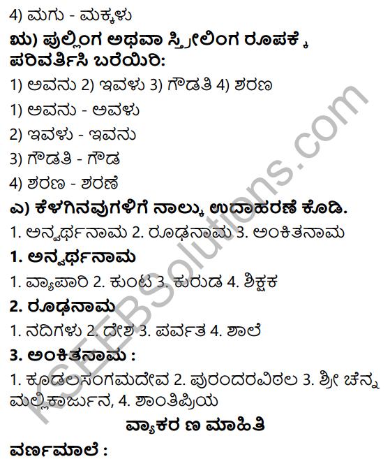Siri Kannada Text Book Class 6 Solutions Gadya Chapter 1 Doddavara Dari 6