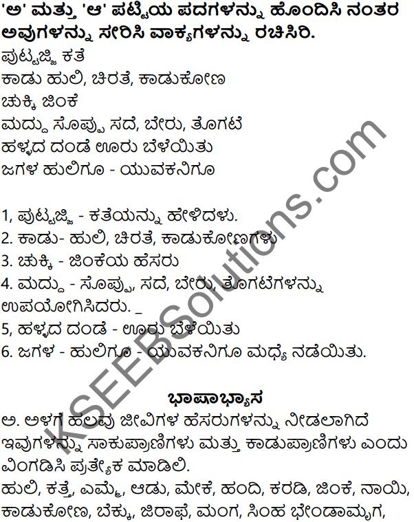 Puttajji Puttajji Kathe Helu Kannada Pdf KSEEB Solution