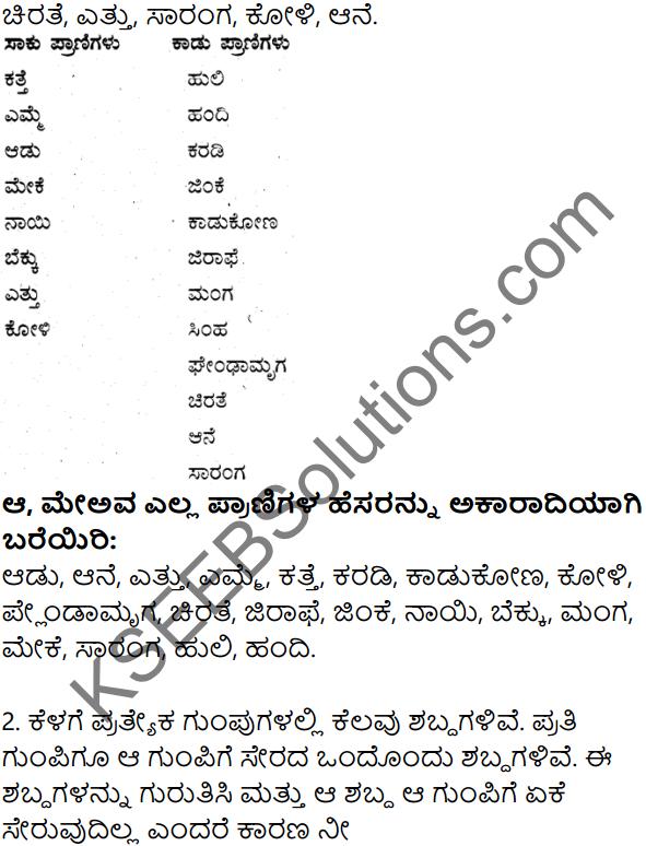 7th Std Kannada Notes KSEEB Solution