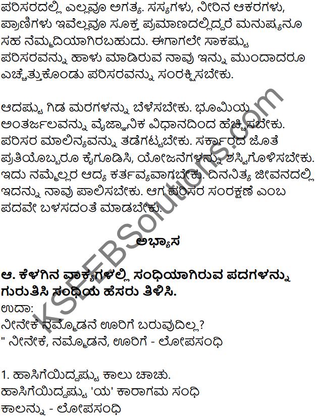 Siri Kannada Text Book Class 7 Solutions Gadya Chapter 4 Parisara Samatholana 10