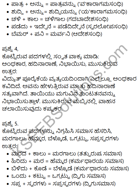 Kannada Moulvi Lesson Questions And Answers In Kannada