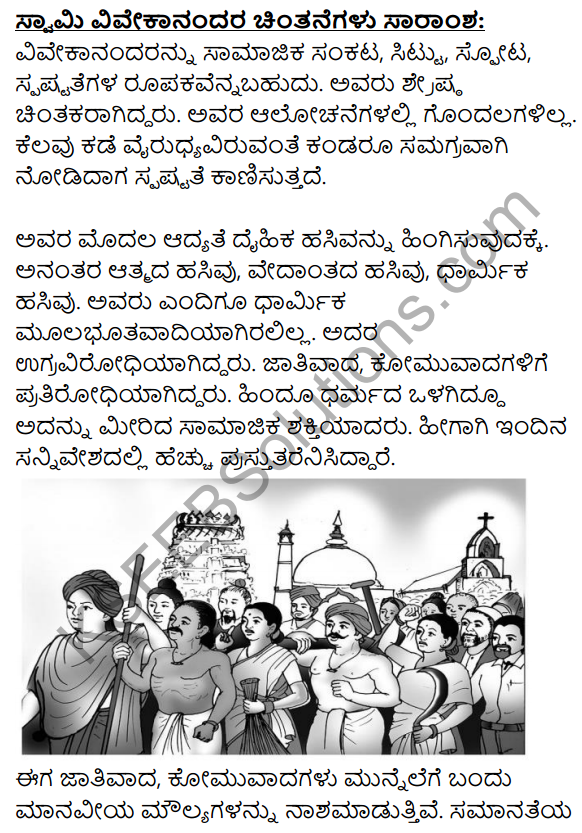 Swami Vivekanandara Chintanegalu Summary in Kannada 1