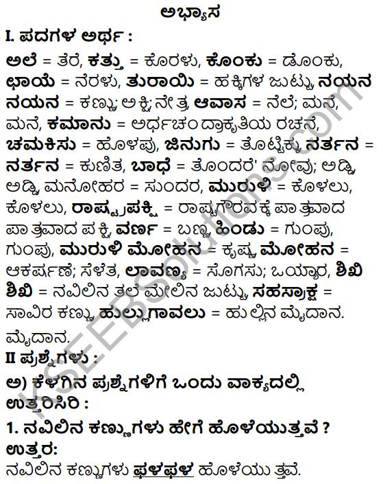Tili Kannada Text Book Class 5 Solutions Gadya Chapter 2 Navilu 1
