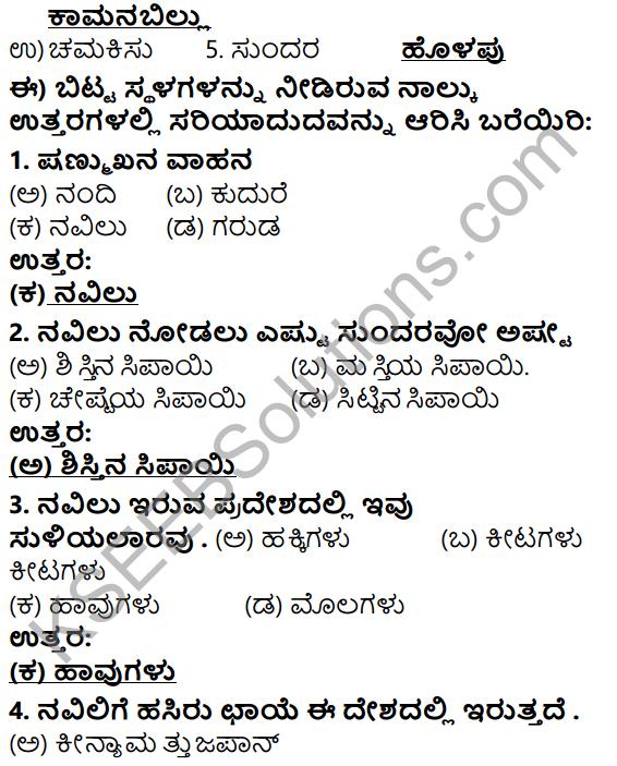 Tili Kannada Text Book Class 5 Solutions Gadya Chapter 2 Navilu 6