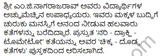 Nari Drakshi Tomato Summary in Kannada 14