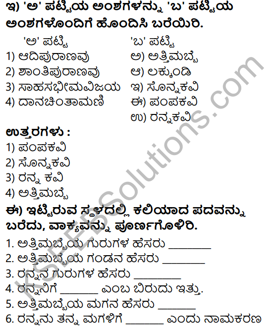 Tili Kannada Text Book Class 7 Solutions Gadya Chapter 6 Danachintamani Attimabbe 6
