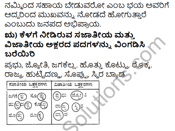 Tili Kannada Text Book Class 8 Solutions Padya Chapter 3 Jyotiye Agu Jagakella 14