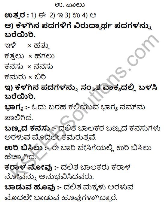 Tili Kannada Text Book Class 8 Solutions Padya Chapter 7 Hakkigalu 8