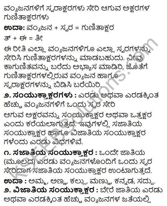Tili Kannada Text Book Class 8 Vyakarana Gunataksharagalu - Samyuktaksharagalu 1