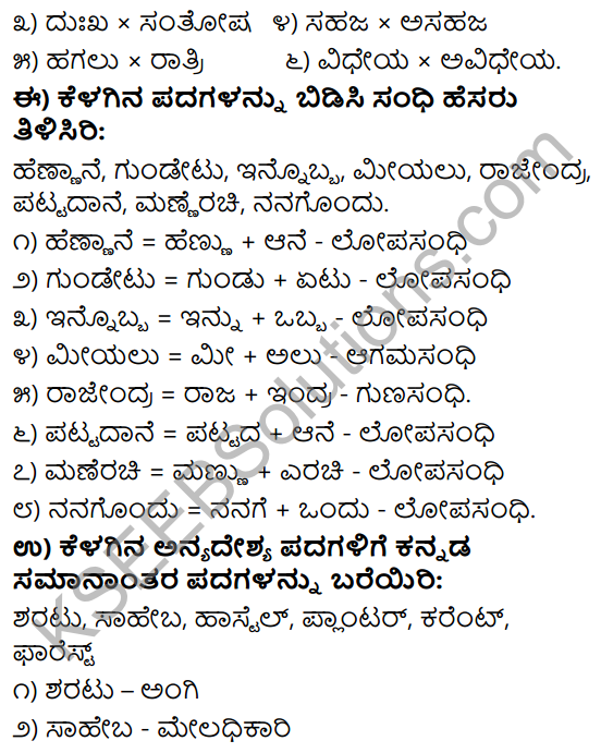 Tili Kannada Text Book Class 9 Solutions Gadya Chapter 3 Jenu Kurubara Tayiyu Kadu Aneya Maganu 12