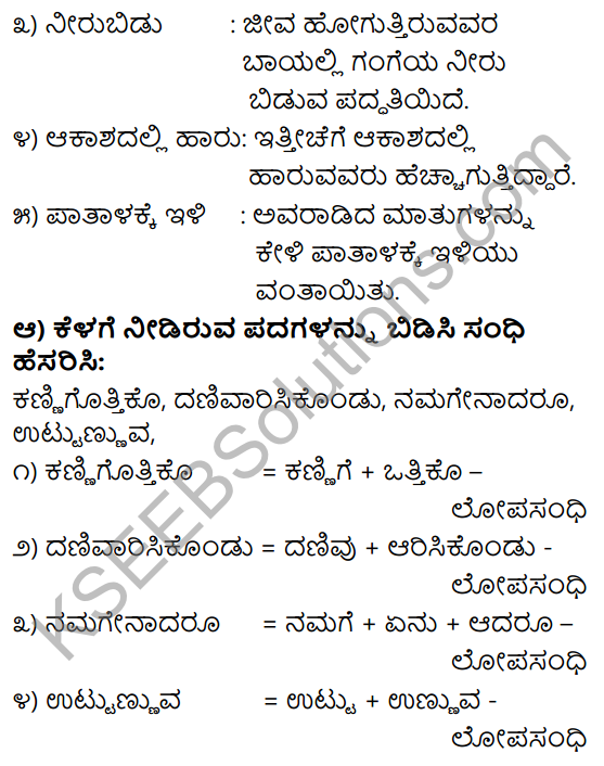 Tili Kannada Text Book Class 9 Solutions Padya Chapter 3 Avaru Mattu Naavu 8
