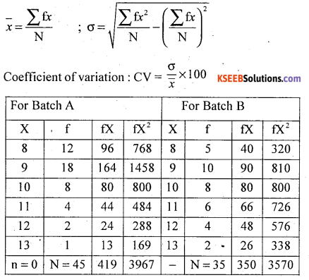 1st PUC Statistics Model Question Paper 2 with Answers - 32