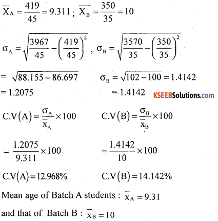 1st PUC Statistics Model Question Paper 2 with Answers - 33