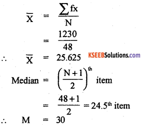 1st PUC Statistics Previous Year Question Paper March 2019 (North) - 33