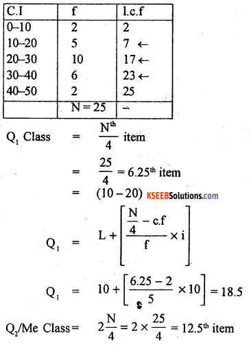 1st PUC Statistics Previous Year Question Paper March 2019 (North) - 35