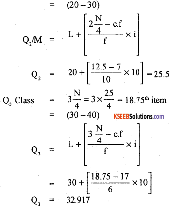 1st PUC Statistics Previous Year Question Paper March 2019 (North) - 36