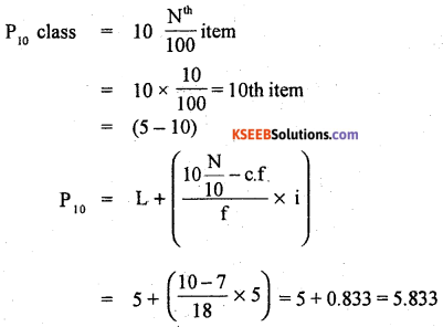 1st PUC Statistics Previous Year Question Paper March 2019 (South) - 54