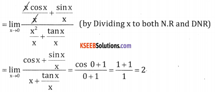 2nd PUC Basic Maths Question Bank Chapter 17 Limit and Continuity of a Function Ex 17.2 - 12
