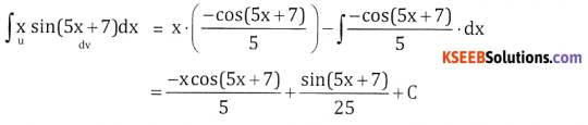 2nd PUC Basic Maths Question Bank Chapter 20 Indefinite Integrals Ex 20.6 - 7