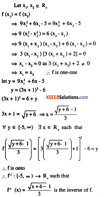 2nd PUC Maths Question Bank Chapter 1 Relations and Functions Ex 1.3 7