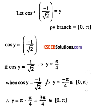 2nd PUC Maths Question Bank Chapter 2 Inverse Trigonometric Functions Ex 2.1 10