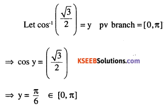 2nd PUC Maths Question Bank Chapter 2 Inverse Trigonometric Functions Ex 2.1 2