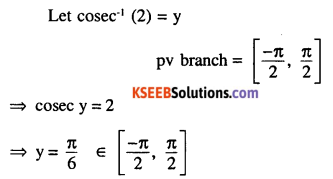 2nd PUC Maths Question Bank Chapter 2 Inverse Trigonometric Functions Ex 2.1 3