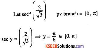 2nd PUC Maths Question Bank Chapter 2 Inverse Trigonometric Functions Ex 2.1 8