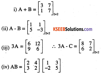 2nd PUC Maths Question Bank Chapter 3 Matrices Ex 3.2 1