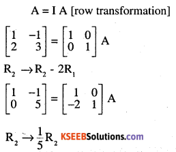 2nd PUC Maths Question Bank Chapter 3 Matrices Ex 3.4 1