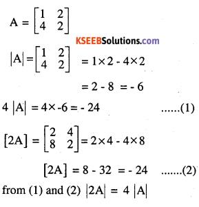 2nd PUC Maths Question Bank Chapter 4 Determinants Ex 4.1.1