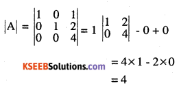 2nd PUC Maths Question Bank Chapter 4 Determinants Ex 4.1.2