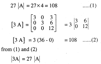 2nd PUC Maths Question Bank Chapter 4 Determinants Ex 4.1.3
