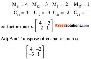2nd PUC Maths Question Bank Chapter 4 Determinants Ex 4.5.1