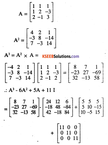 2nd PUC Maths Question Bank Chapter 4 Determinants Ex 4.5.20