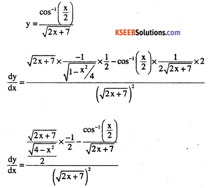 2nd PUC Maths Question Bank Chapter 5 Continuity and Differentiability Miscellaneous Exercise 6