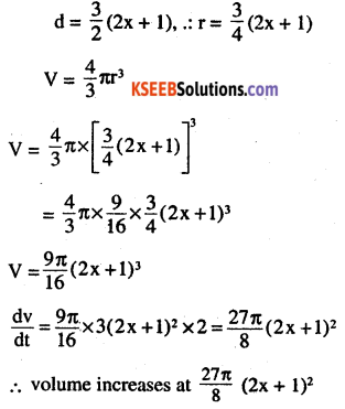 2nd PUC Maths Question Bank Chapter 6 Application of Derivatives Ex 6.1.14