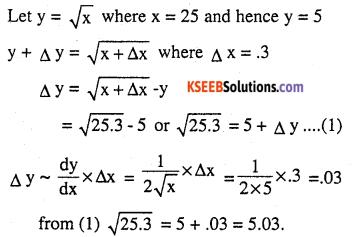 2nd PUC Maths Question Bank Chapter 6 Application of Derivatives Ex 6.4.1