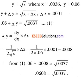 2nd PUC Maths Question Bank Chapter 6 Application of Derivatives Ex 6.4.13