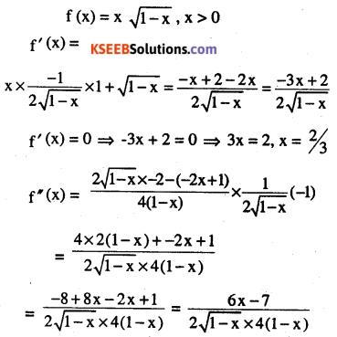 2nd PUC Maths Question Bank Chapter 6 Application of Derivatives Ex 6.5.10