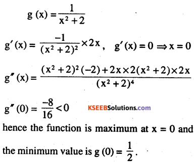 2nd PUC Maths Question Bank Chapter 6 Application of Derivatives Ex 6.5.9