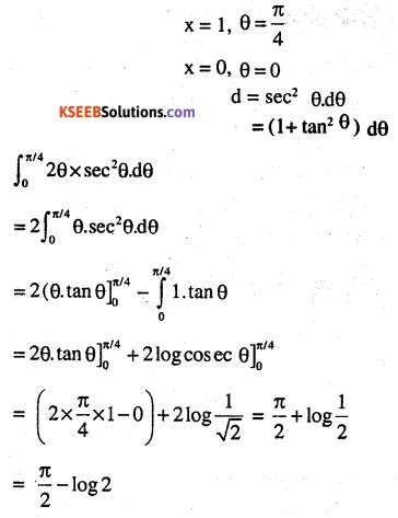 2nd PUC Maths Question Bank Chapter 7 Integrals Ex 7.10.4