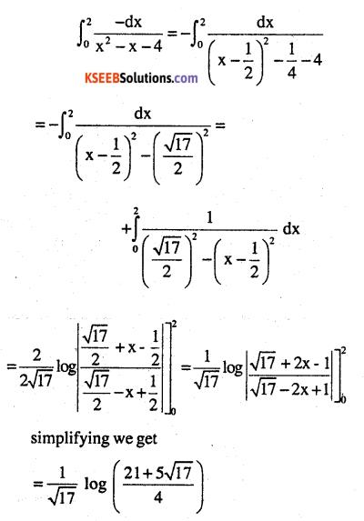 2nd PUC Maths Question Bank Chapter 7 Integrals Ex 7.10.8