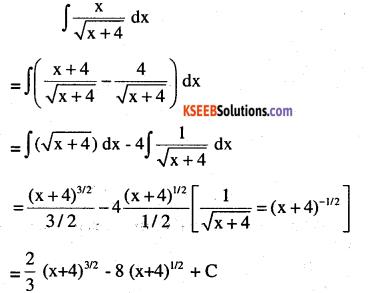 2nd PUC Maths Question Bank Chapter 7 Integrals Ex 7.2.12