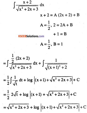 2nd PUC Maths Question Bank Chapter 7 Integrals Ex 7.4.27