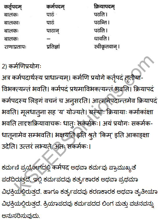 2nd PUC Sanskrit Textbook Answers Vyakaran प्रयोगाः 3