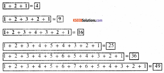 KSEEB Solutions for Class 5 Maths Chapter 10 Patterns 4